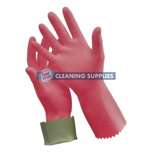 Oates Silver Lined Rubber Gloves size 9 - 165823 / R-88-9